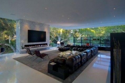 Living Room Design - minus the glass walls