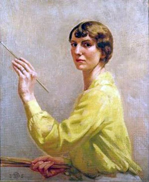 PORTRAITS OF PAINTERS: Rose Brigid Ganley, Irish painter (1909 - 2002):