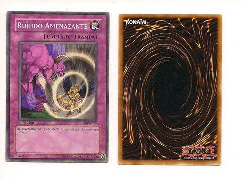 RUGIDO AMENAZANTE FET-SP052 SPANISH 1996 YU GI OH KONAMI CARD Free U S Shipping SJG
