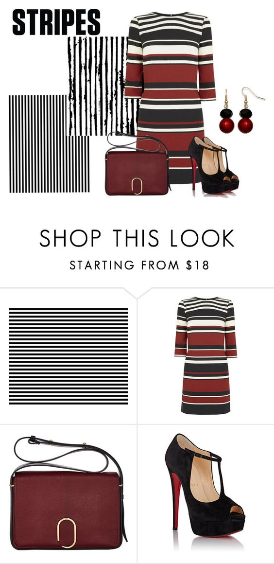 """""""Stripes"""" by sjlew ❤ liked on Polyvore featuring Oasis, 3.1 Phillip Lim, Christian Louboutin and Mixit"""