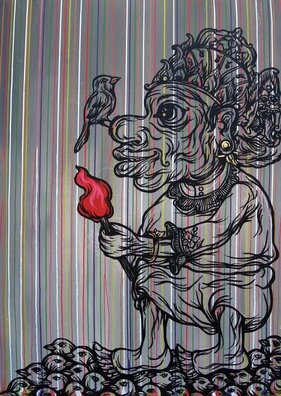 gelal  90cm x 120cm. acrylic on canvas  © Robet Kan 2009