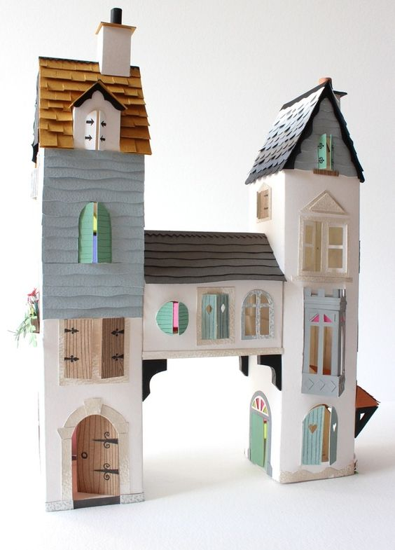 cardboard castle castles and paper houses on pinterest