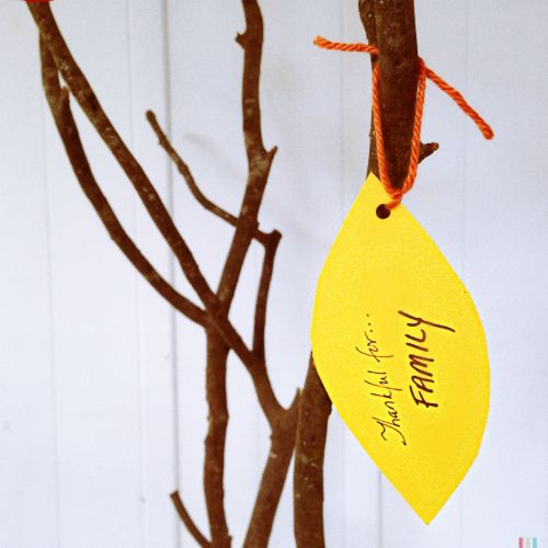 Make a Thanking tree to give thanks for the things you are most grateful for.