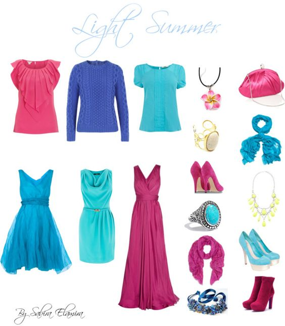 """""""Light Summer Brights"""" by sabira-amira ❤ liked on Polyvore"""