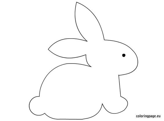 bunny rabbit templates free - bunny craft template easter pinterest coloring