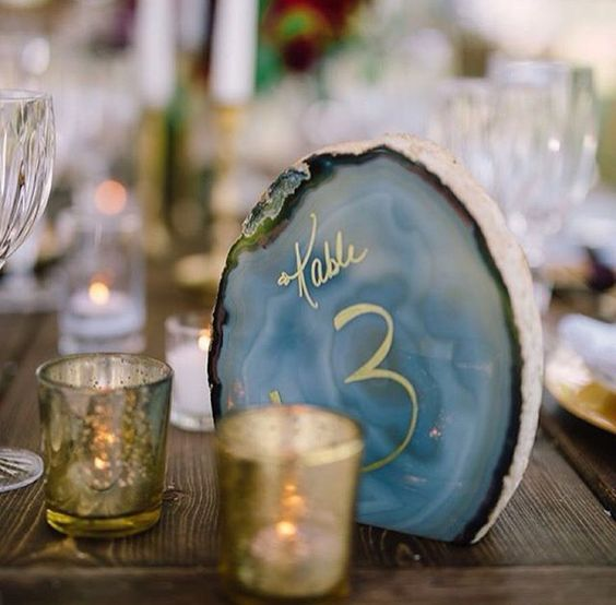 Crystal Table Numbers