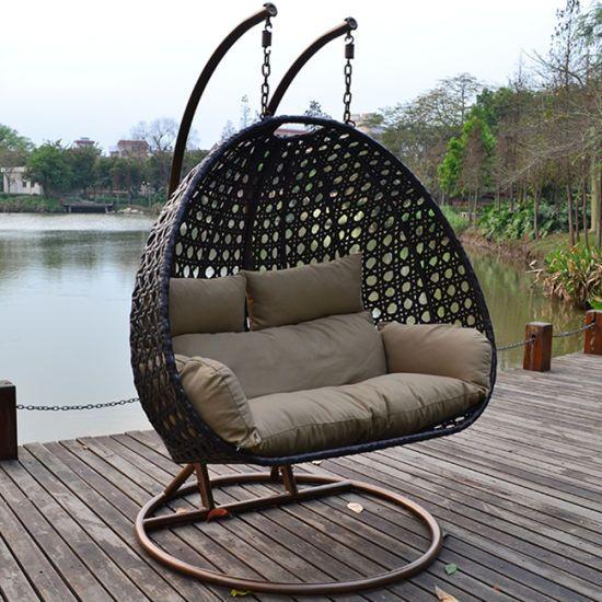 Hot Item Outdoor Rattan Wicker Cane Hanging Swing Chair Outdoor