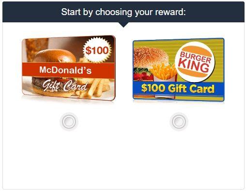 100 Mcdonalds Or Burger King Gift Card 2019 Burger King Gift