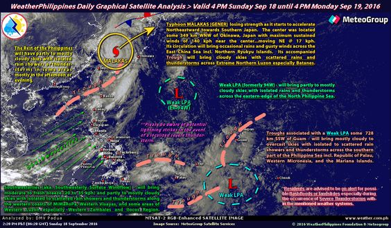 WeatherPhilippines Daily Graphical Satellite Analysis from 4pm Sep 18 until 4pm…
