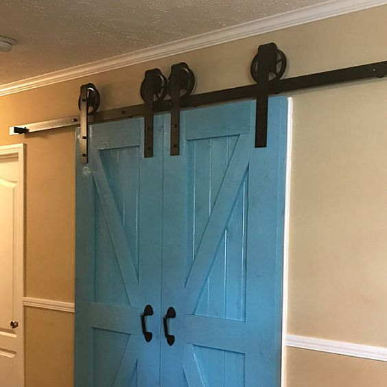 Made In The Usa This Double Barn Door Kit Includes Everything You Need Besides The Too Barn Doors Sliding Sliding Doors Interior Sliding Barn Door Hardware