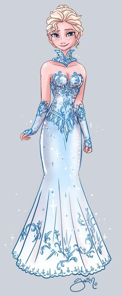 Elsa's alternate dress: