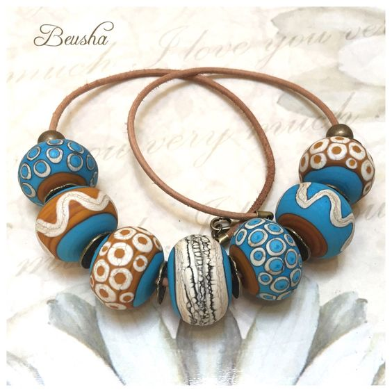 Ein persönlicher Favorit aus meinem Etsy-Shop https://www.etsy.com/de/listing/255495882/handmade-lampwork-necklace-ethno-ethno