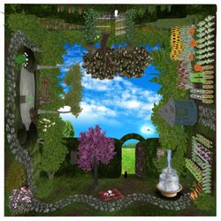 What a wonderful world by Krystali. 3D Art in Second Life