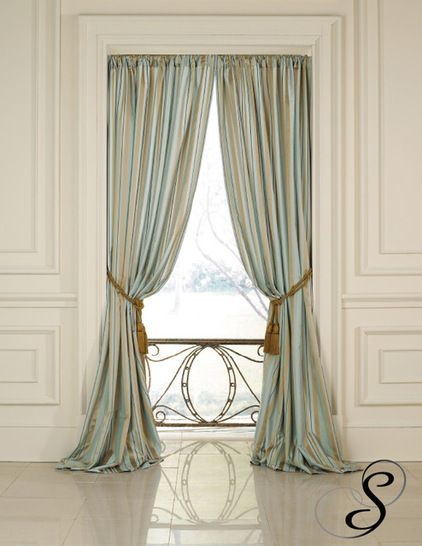 bedroom drapery ideas photos - Traditional Curtains by Softline Home Fashions