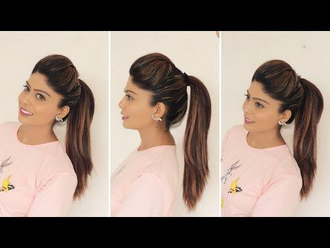 1 Minute Perfect High Ponytail With Puff Tips Tricks Rinkal Soni Youtube Hair Styles Medium Hair Styles Ponytail Hairstyles Easy