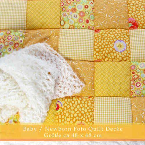 Newborn Baby Foto Quilt Decke Sonnenschein mit Mohair Wrap Weiß