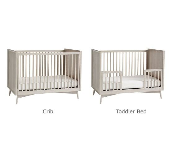 West Elm X Pbk Mid Century Convertible Baby Crib Pottery Barn Kids In 2020 Cribs Modern Baby Furniture Convertible Crib