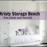 Kristy Storage Bench - Sawdust Girl