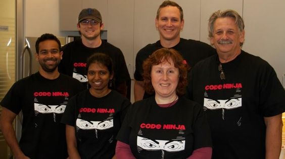 Love your team spirit! brought to you by Code Ninja, trust us! Thanks, rushordertees.com