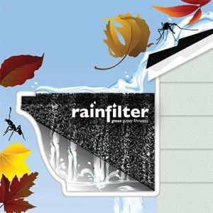 Rain Water Collection System - Filter Green Gutter Filtration System 32 Linear Feet: