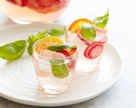 Spring Fruit Sangria - Cupcakes