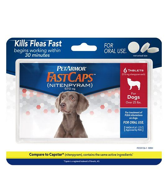 Buy Petarmor Fastcaps Oral Flea Tablets For Dogs Over 25 Lbs 6 Count At Chewy Com Free Shipping And The Best Customer Service Fleas Pregnant Dog Flea Treatment