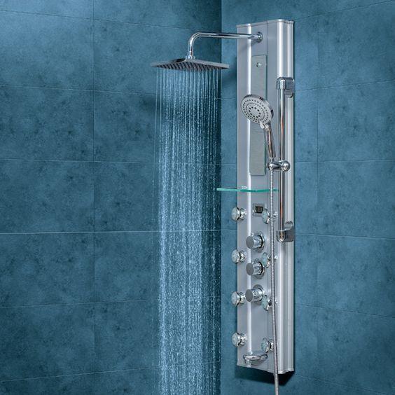 Columna de hidromasaje para ducha y ba era con grifer a for Griferia para banera