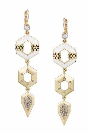 Belle Noel by Kim Kardashian Hexagon Drop Earrings