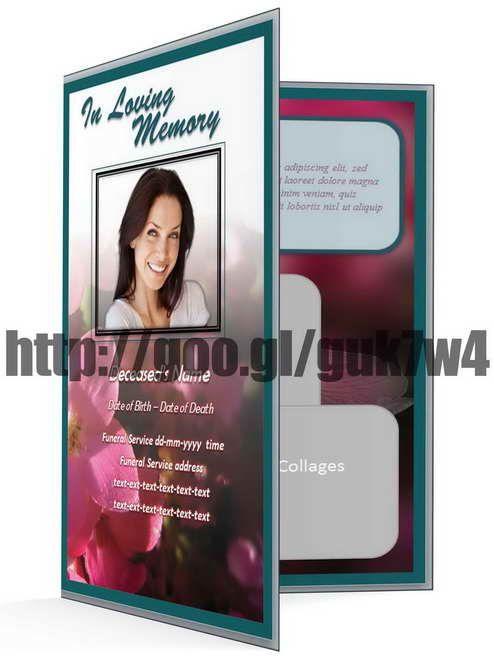 free funeral program template funeralprogram0 on pinterest