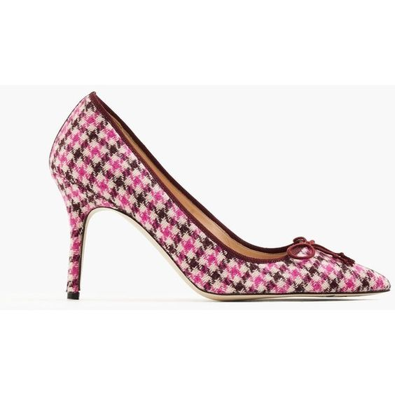 J.Crew Elsie Tweed Pumps ($370) ❤ liked on Polyvore featuring shoes, pumps, high heel pumps, pointy toe high heel pumps, pointed toe shoes, j crew shoes and synthetic shoes