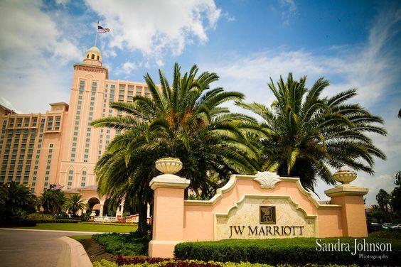The beautiful JW Marriott Orlando Grande Lakes. Credit: Sandra Johnson Photograpy