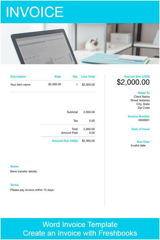 Cloud Accounting For Word Services Invoice Template Microsoft Word Invoice Template Business Accounting Software