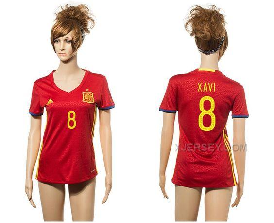 http://www.xjersey.com/spain-8-xavi-home-euro-2016-women-jersey.html Only$35.00 SPAIN 8 XAVI HOME EURO 2016 WOMEN JERSEY Free Shipping!