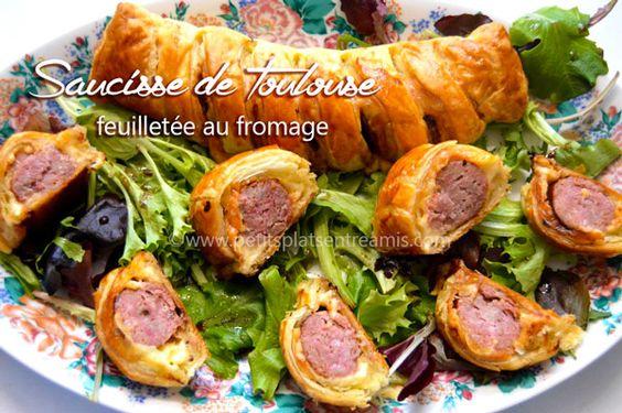 Cette saucisse de Toulouse feuilletée au fromage peut être servie aussi bien à l'apéritif qu'en entrée sur un lit de salade. Facile et rapide à préparer cette recette joue sur le mariag…