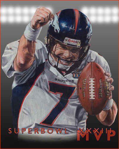 pictures broncos players | John Elway Denver Broncos Player Poster, Art Superbowl Champions