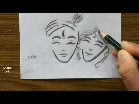 Pin On Lord Krishna Drawing Easy