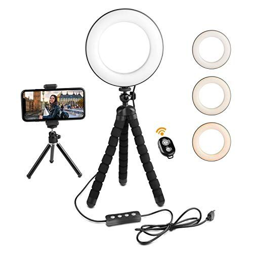 Deyard Led Ring Light With Tripod Stand Cell Phone Holder For Iphone Gopro Xiaomi Yi Action Camera Suitable For You In 2020 Cell Phone Holder Led Ring Led Ring Light