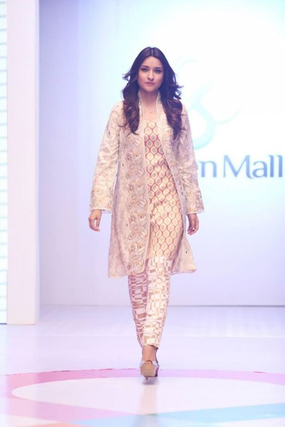 Stitching Styles Of Pakistani Dresses Yellow and white Jacket Style Shirt
