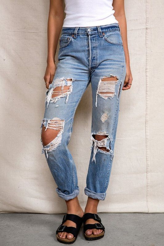Urban Renewal - Super-Destroyed Levi's Jean --> Vintage Levi's ...