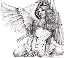 Crying Angel - Artist: Mouse Lopez  STRETCHED & READY TO HANG. ALL ART IS AVAILABLE IN 5 DIFFERENT SIZES. ALL CANVAS ART ARE CUSTOM MADE TO ORDER