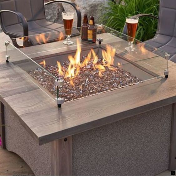 1 4 Copper Reflective Fire Glass With Images Outdoor Fire Pit