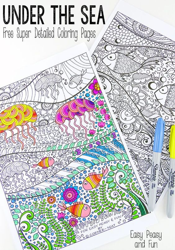 Coloring Pages For Adults Under The Sea And Coloring Pages On Pinterest