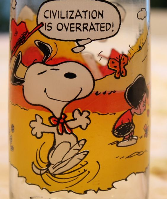 A 1971 Camp Snoopy Collection Glass by McDonalds. $7.50, via Etsy.