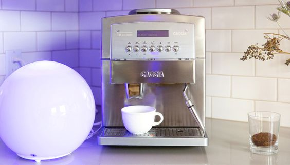 Substitute your morning coffee for a cool blue light to help prepare yourself for the day.