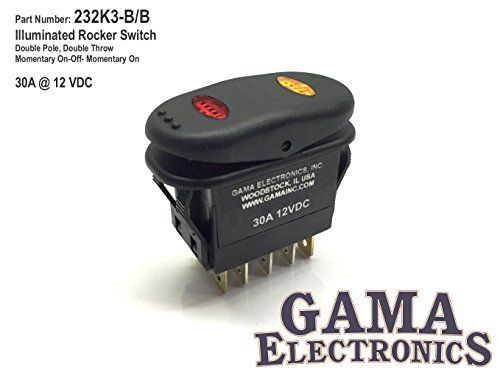 Gama Electronics Waterproof Illuminated Double Pole Double Throw 3 Position Momentary On Off Momentary On Rocker Switch Dpdt Electronics Rocker Pole