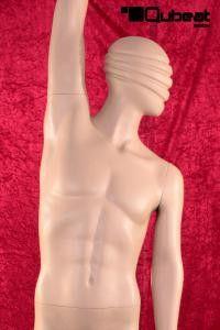 #Schaufensterpuppe #Mannequin #abstrakt #hautfarbe #stehend #männlich #sportlich #tanzend #streckend