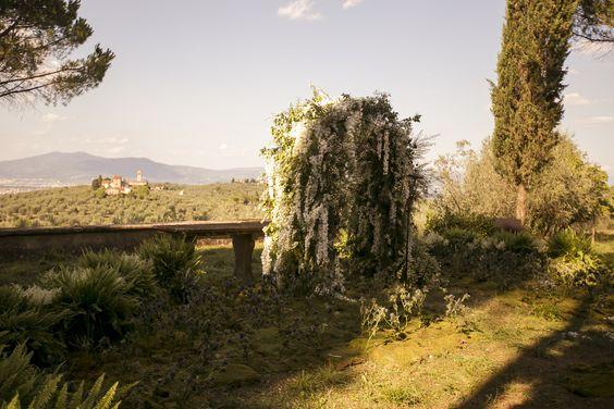 Enchanted forest wedding arch