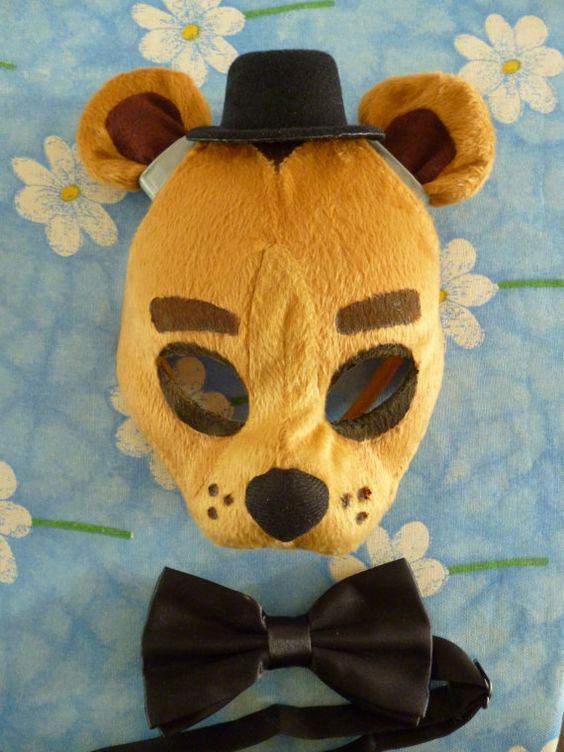 Five Nights at Freddy's Freddy Golden Freddy Fazbear Mask by ShopBHawk on Etsy