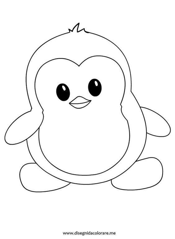 malvorlage pinguin einfach  amorphi
