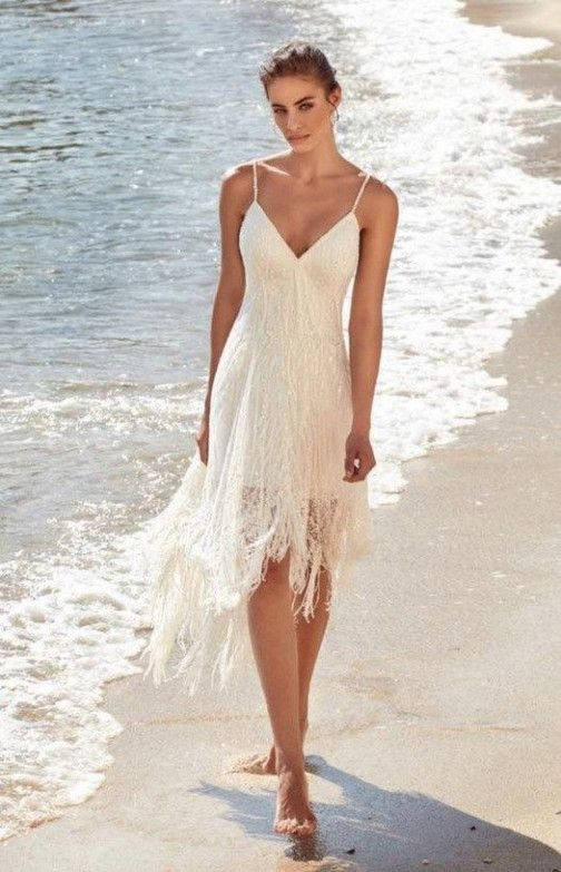 Seven Benefits Of Short Wedding Dresses Beach That May Change Your Perspective Short Wedding Dress Beach Casual Beach Wedding Dress Short Wedding Dress